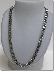 ゲルマ純チタン極太喜平ネックレス。ガンメタ1